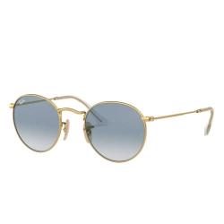 Óculos Solar Ray-Ban RB3447-NL 001/3F Redondo - Dourado 53-21 145