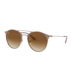 Óculos Solar Ray-Ban RB3546L 9071/51 Redondo - Nude 52-20 145