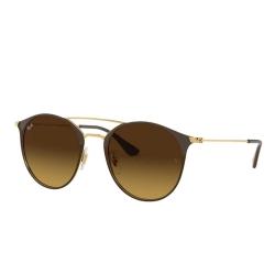 Óculos Solar Ray-Ban RB3546L 9009/85 Redondo - Marrom 52-20 145 3N